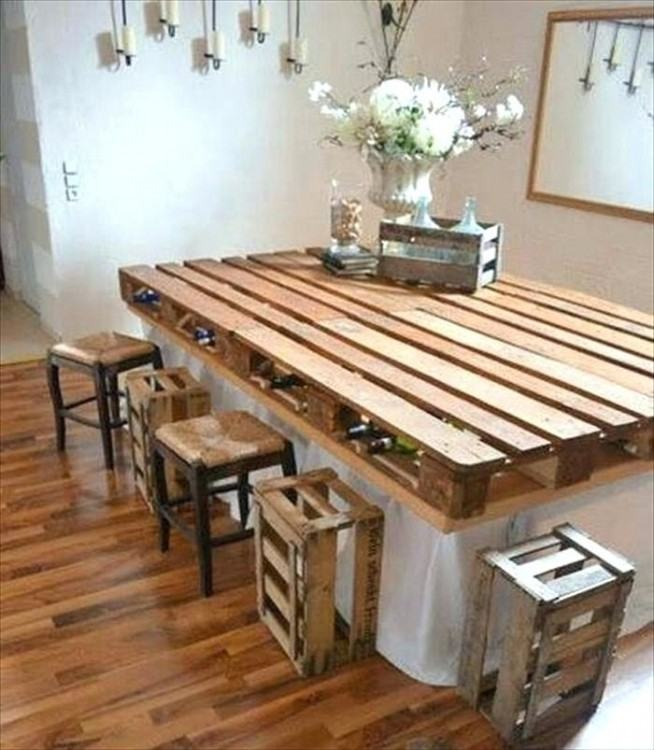 Make Kitchen Table Out Pallets Trendyexaminer Graceful Tables Made Img Home  Design And Classic Dining Room Colors Island With How Circle Back Panel  Ideas