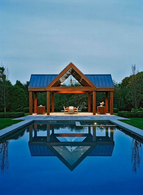 Amagansett pool house designed by ICRAVE