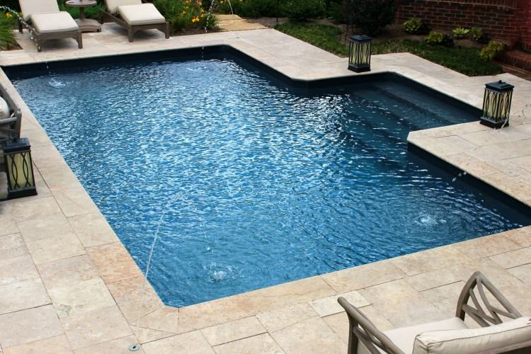 fiberglass pool deck modular small swim spa from leisure pools designs
