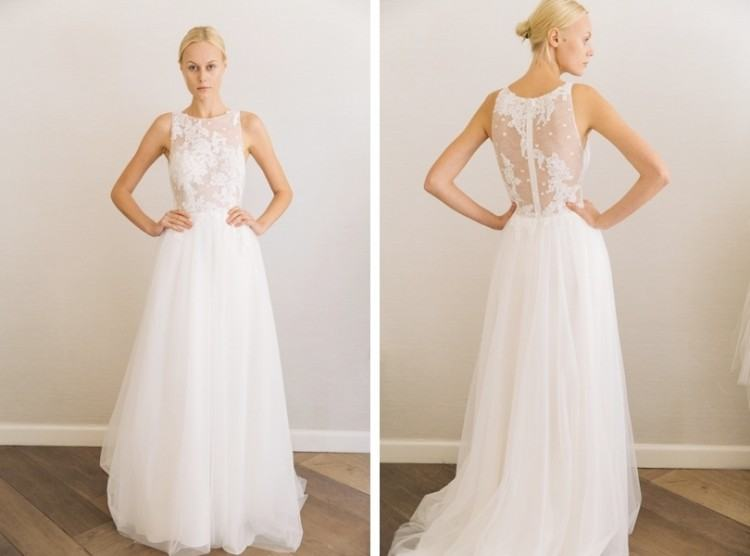Discount 2017 New Designer A Line Country Modest Wedding Dresses Long With  Cap Sleeves Beaded Lace Top Chiffon Skirt Informal Temple Bridal Gowns  Affordable