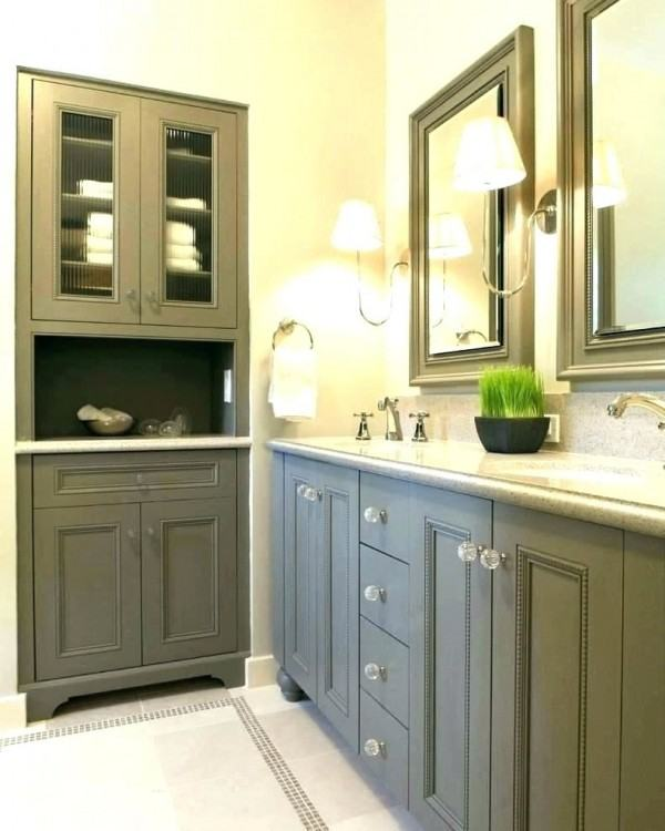 how to repaint bathroom cabinets