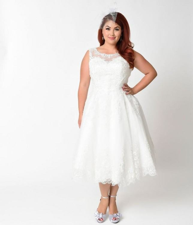 Vintage Inspired Wedding Dresses Amour Lace Wedding Gown Ivory Womens Plus  Size $324