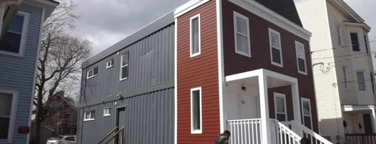 Modular homes made out of shipping containers