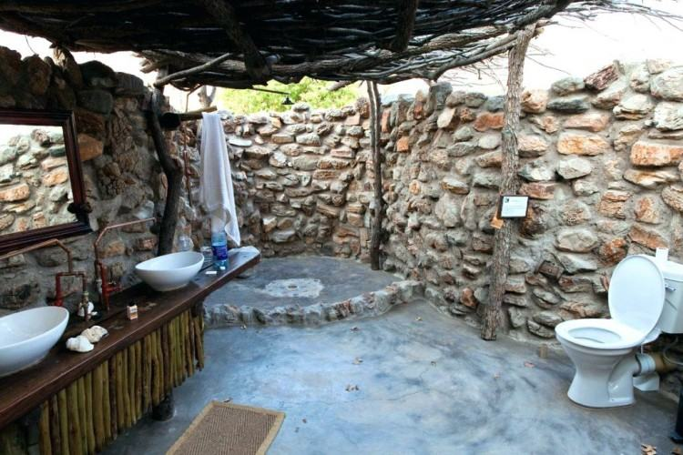 outdoor bathroom  ideas natural canopy offers