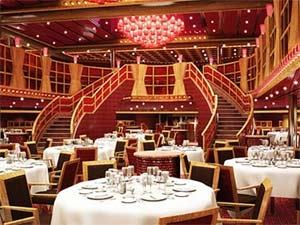 The 1,300 seat Truffles Restaurant is Carnival Legend's main dining room  and serves a huge range of culinary delights