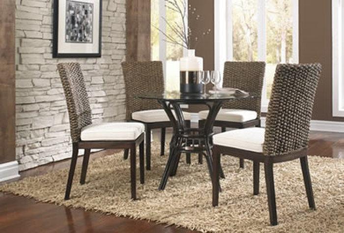 wicker dining room set