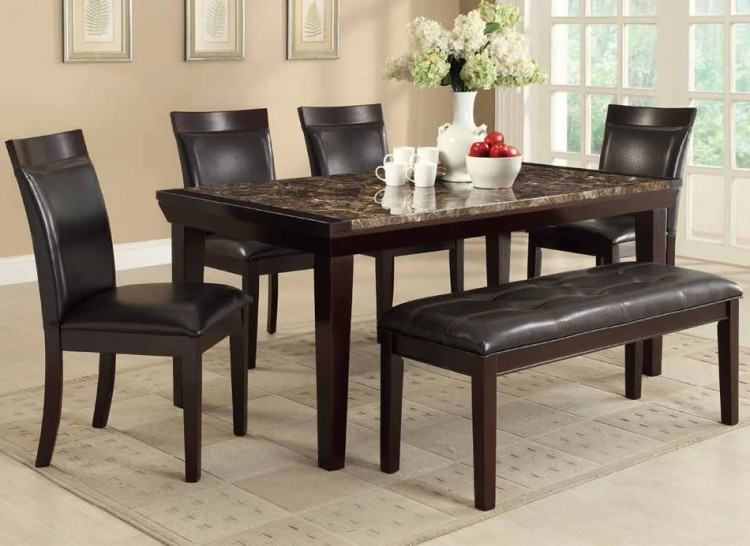 Dining Room Counter Butterfly  Extension Table & 6 Upholstered Barstools at WCC Furniture & Mattress  Center serving