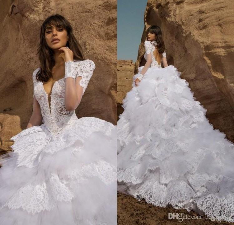 Pnina Tornai Wedding Dresses 2016 Spring Princess A Line Sweetheart Crystal  Beads White Organza Garden Beach