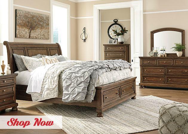 Furniture · Meadow King Platform Bed in Brick Brown | Nebraska Furniture  Mart · Solid Wood