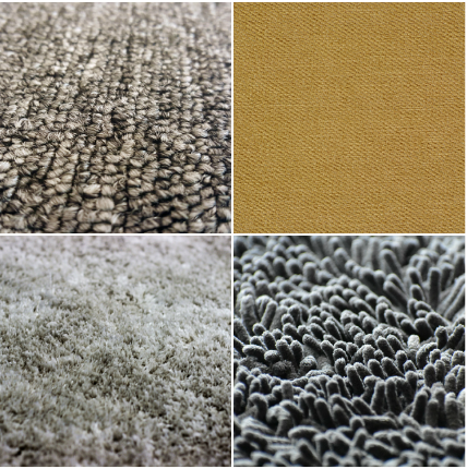 There are many different carpet fiber options to choose from, including  natural fibers like wool and synthetic materials like polyester, olefin,  acrylic,
