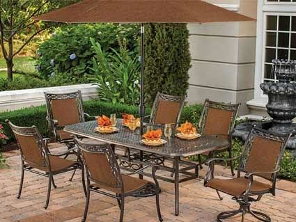 Agio Ashmost Patio Fire Pit & Chairs