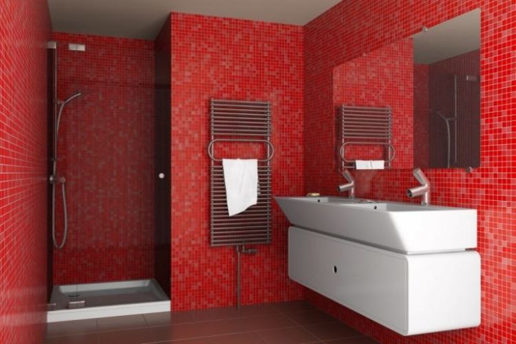 [Bathroom Interior] Bathroom Color Bathroom Red