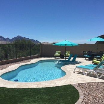 A beautiful little pool tucked within the walls of a Tucson Arizona home