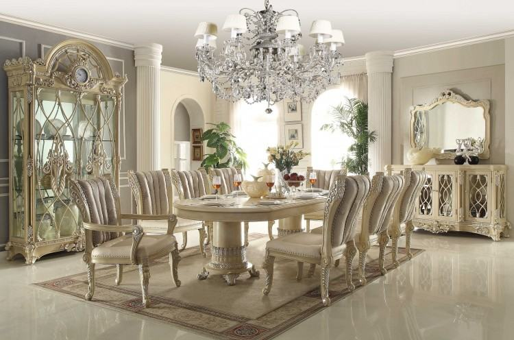 Magnificent Ortanique Rectangular Double Pedestal Dining Room Set By Ashley  On