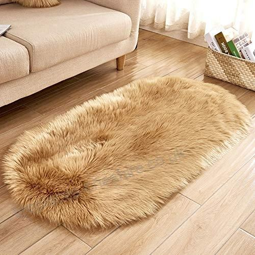 HAOCOO Faux Fur Rug White Shag Fuzzy Fluffy Sheepskin Kids Carpet with  Super Fluffy Thick Used As An Area Rug in Bedroom Living Room Or Across  Your Armchair