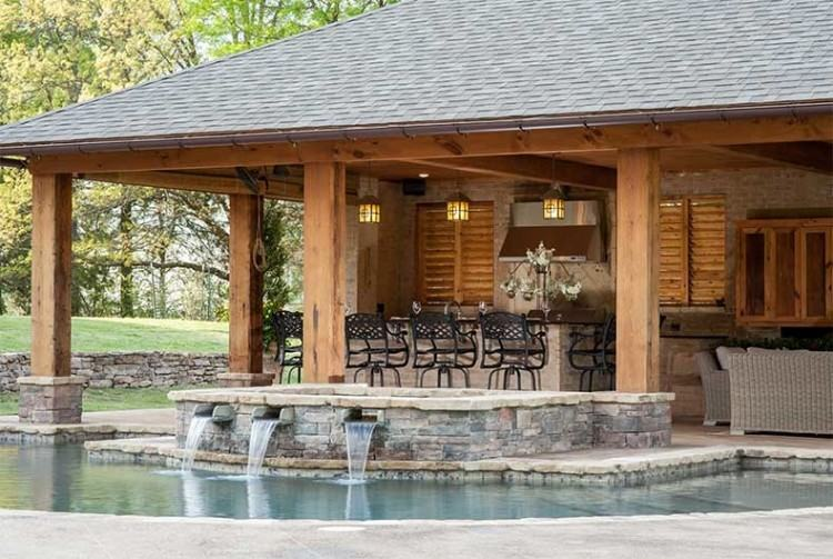 atlanta pool builder freeform in ground swimming pool photos