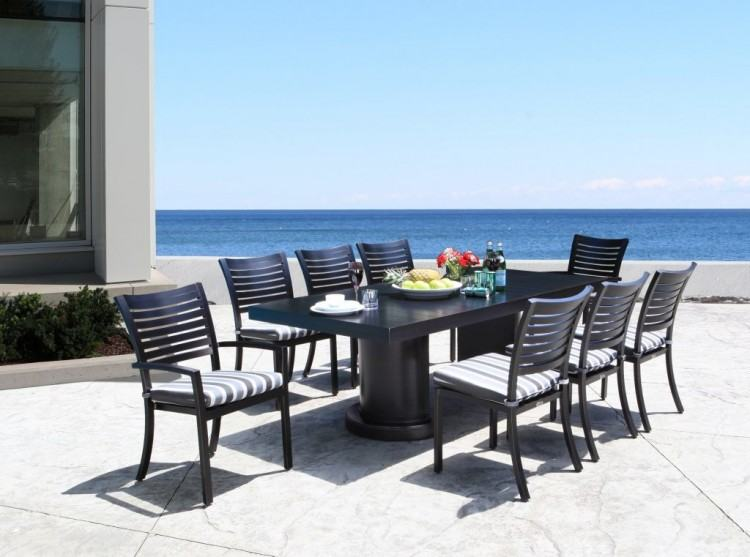 Stackable patio chairs are great for outdoor parties in the summer,  especially social gatherings with large numbers of people