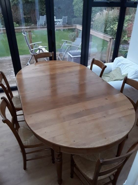 Dining table and 6 chairs, House of Fraser
