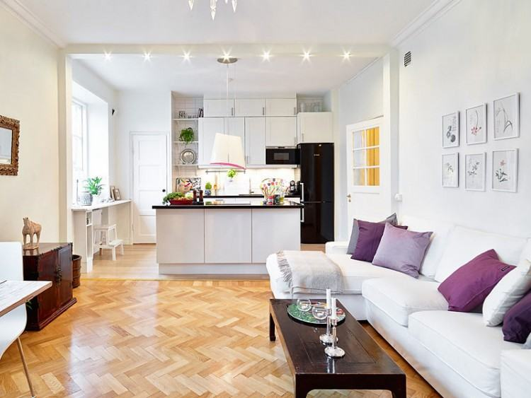 kitchen and living room design