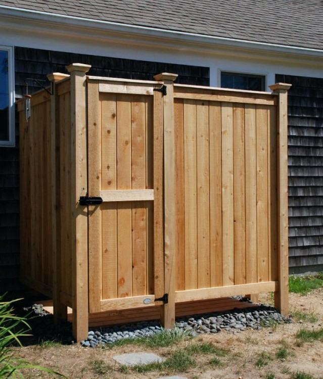 prefab outdoor shower enclosures knotty cedar boards stall outside enclosure  kits corner lowes outdoo