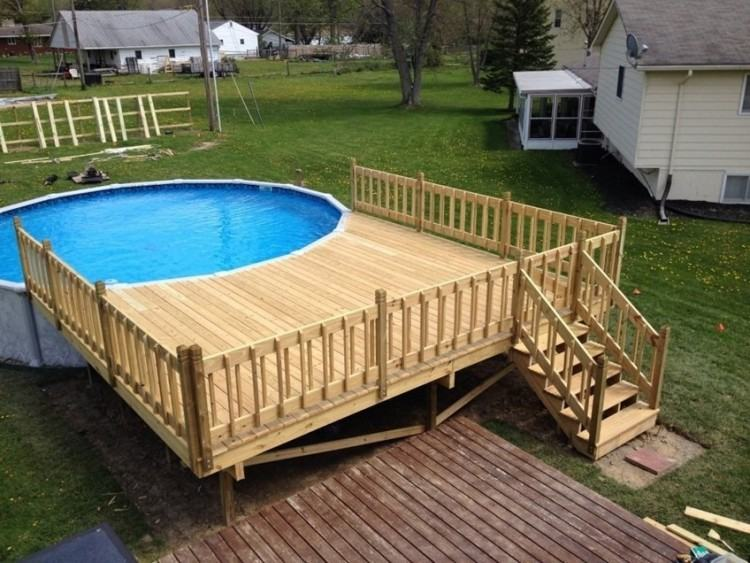 impressive backyard design and decoration with various above ground pool  deck ideas charming landscaping oval plans