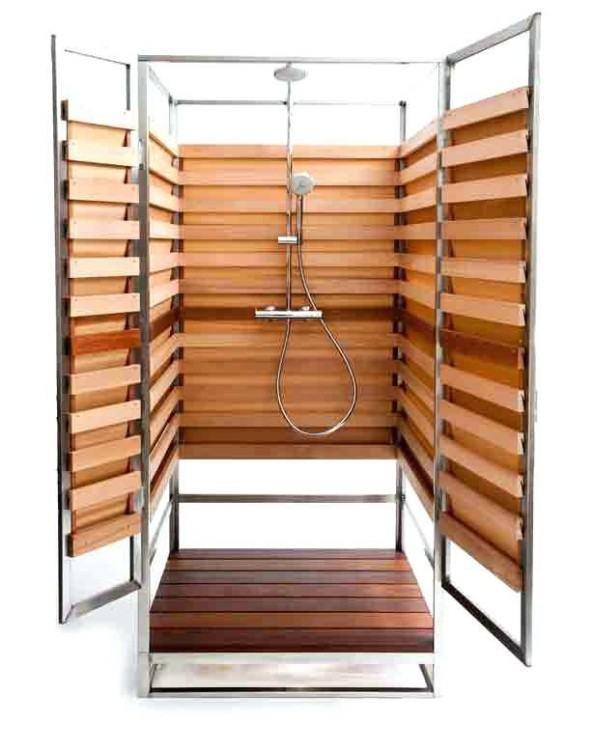 outdoor shower  enclosure ideas