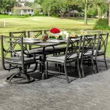 Audubon 72x42 Inch Aluminum Patio Dining Table By Lakevie