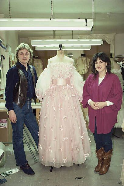 Spencer's fairytale wedding dress in 1981 delighted royal fans with its  full silk taffeta gown and 25ft train by designers David and Elizabeth  Emanuel