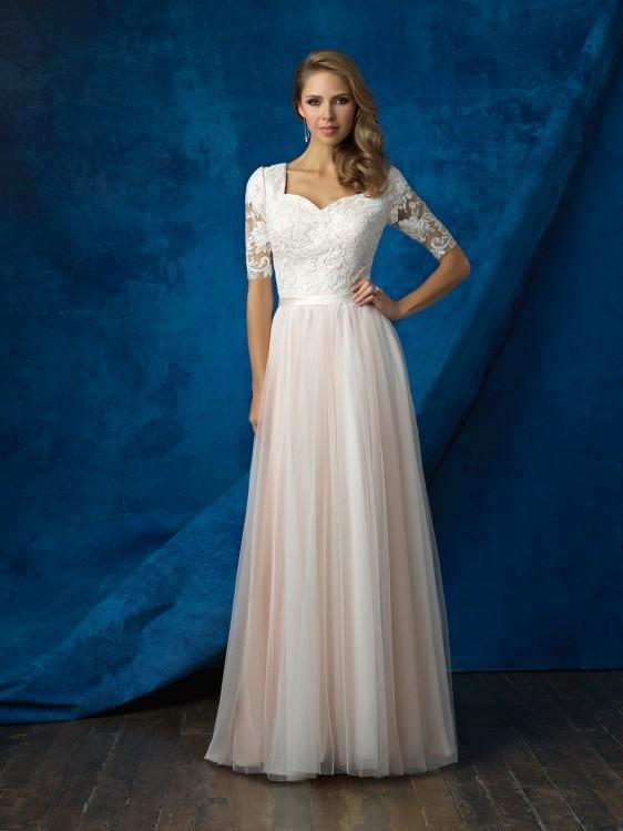 buy online 58e3b 6b759 Under 100 Cheap Modest White Lace Bridesmaid  Dresses