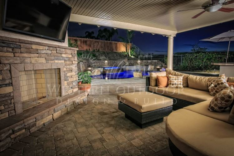 If you're longing for spring, check out the more than 50 amazing outdoor  fireplace designs and outdoor living spaces collected by onekindesign