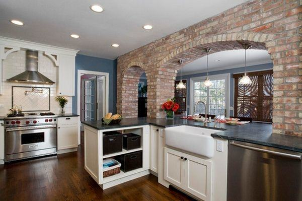 Beautiful arched mosaic tile backsplash with fleur de lis center piece and  Celeste and Wandering Vine accents in your choice of 16 different metal  finishes