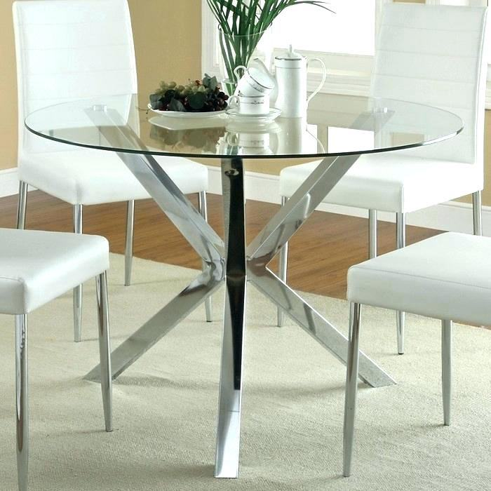 Medium Size of Round Glass Dining Room Tables For 6 Table Seater 60 Inch  Top Kitchen