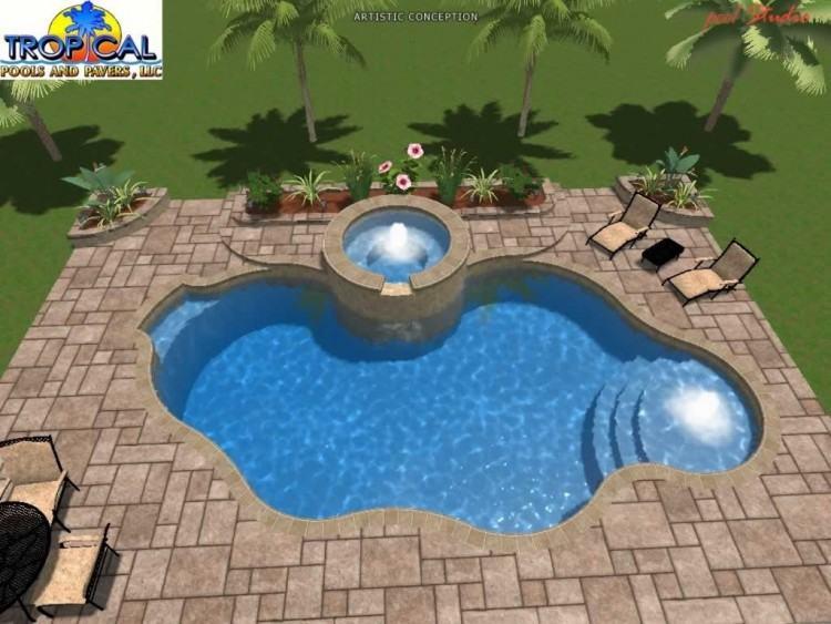 Custom plunge pool design for small blocks