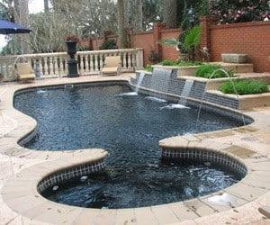 singular pool designs pool ideas with waterfalls