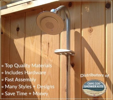 outdoor shower designs free enclosures kits for sale floor cedar