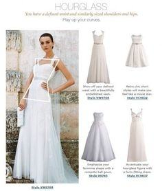 Finding the best wedding dress for your hourglass shape is easy if you  follow some simple guidelines