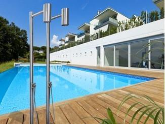 outdoor shower column stainless steel freestanding valves pool