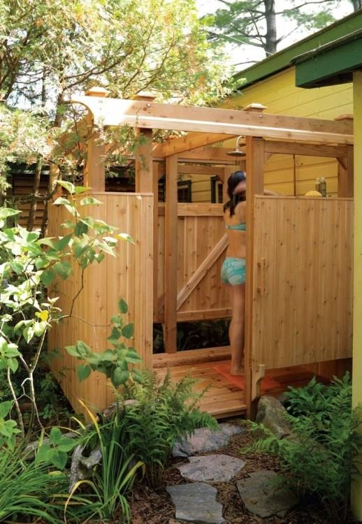 Outdoor shower enclosure ideas – fantastic showers for your garden