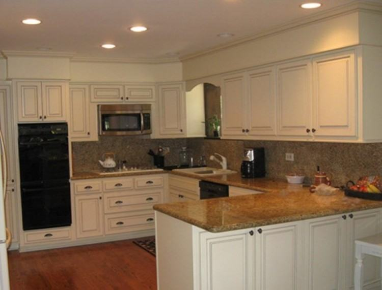 Use crown molding to trim the soffit area above cabinets in the kitchen