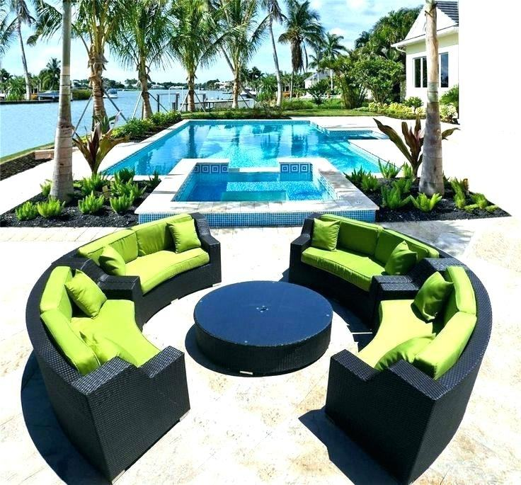 outdoor rattan wicker sofa sectional patio furniture set eclipse modern  round
