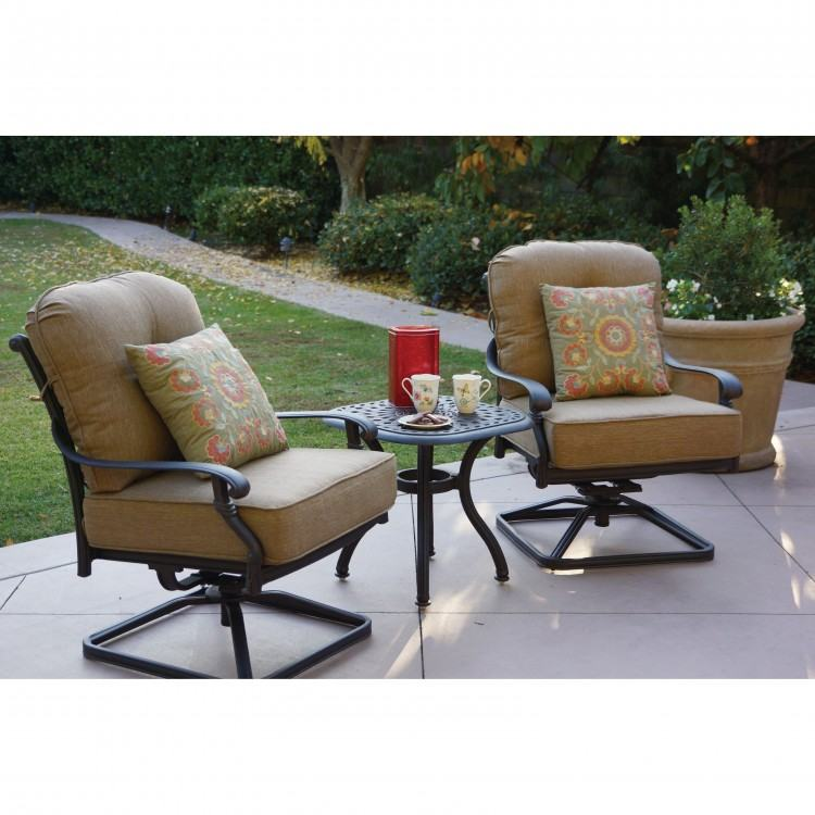 Fire Pit Chat Set  pertaining to Patio