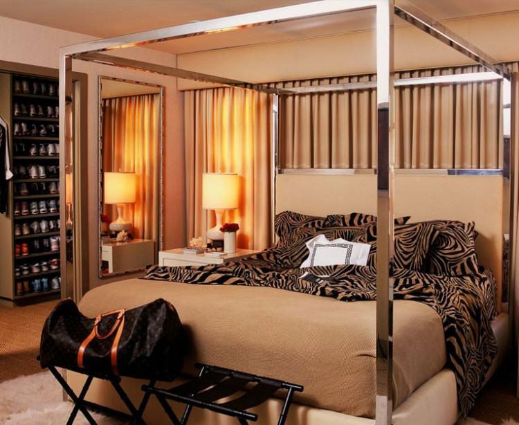 Warm Zebra Print Bedroom Ideas For Adults