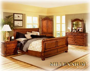 Ashley Furniture Millennium Collection Serengeti Kuli Wood Set