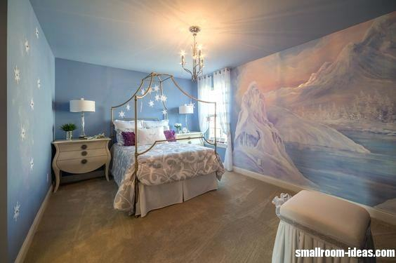 Frozen Wall Mural Dreams Come True Girls Bedroom Inspired By The Frozen  Cartoon Home Interior Design Kitchen And Bathroom Designs Architecture And