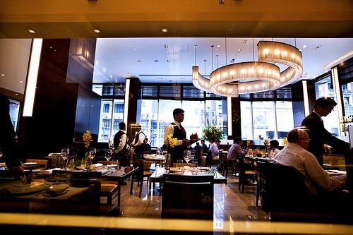 Aureole has a main dining room and bar, which is more casual