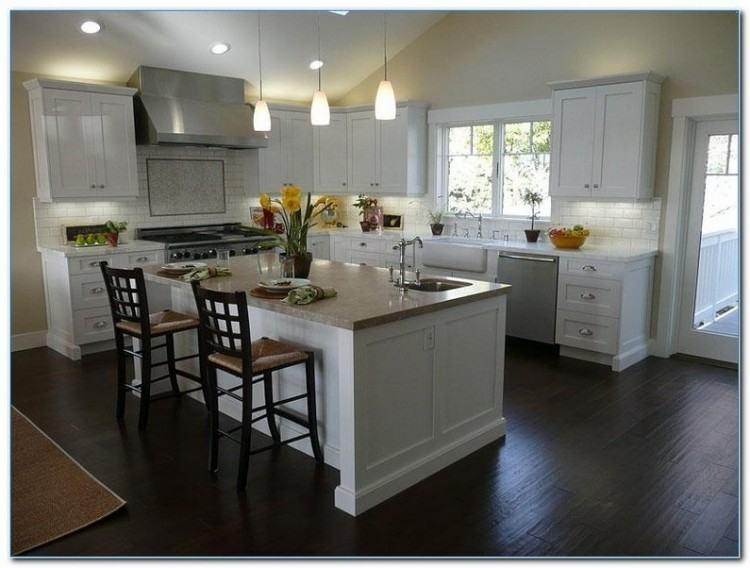 Full Size of Kitchen:white Kitchen Cabinets With Dark Floors Kitchen  Counter Height The Kitchen