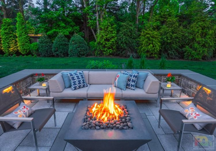 By adding inviting patio furniture,