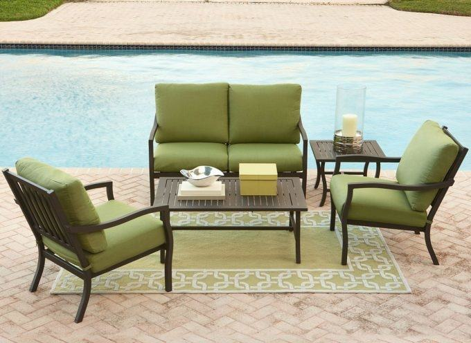 Spring Haven Brown Wicker Outdoor Patio