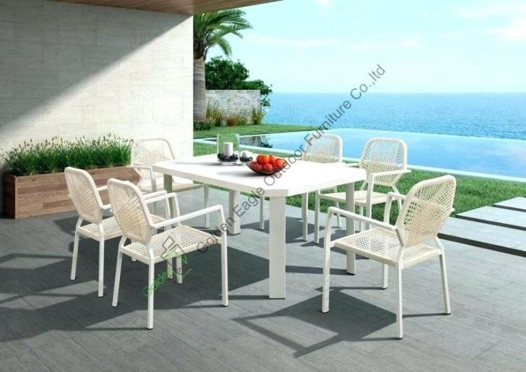 8 person patio table lovely dining set 5 cast aluminum sets kijiji cas