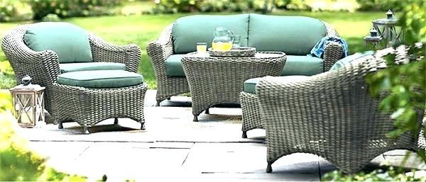 Martha Stewart Charlottetown Outdoor Furniture Patio Furniture Cushions  Living Brown Swivel Rocker With Green Cushions Martha Stewart Living  Charlottetown